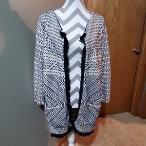 Lucky brand open front cardigan EUC